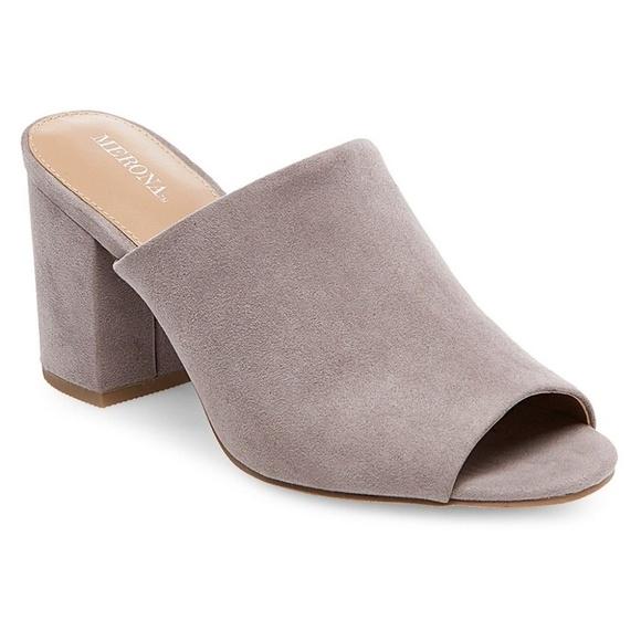Merona Shoes   Merona Grey Heeled